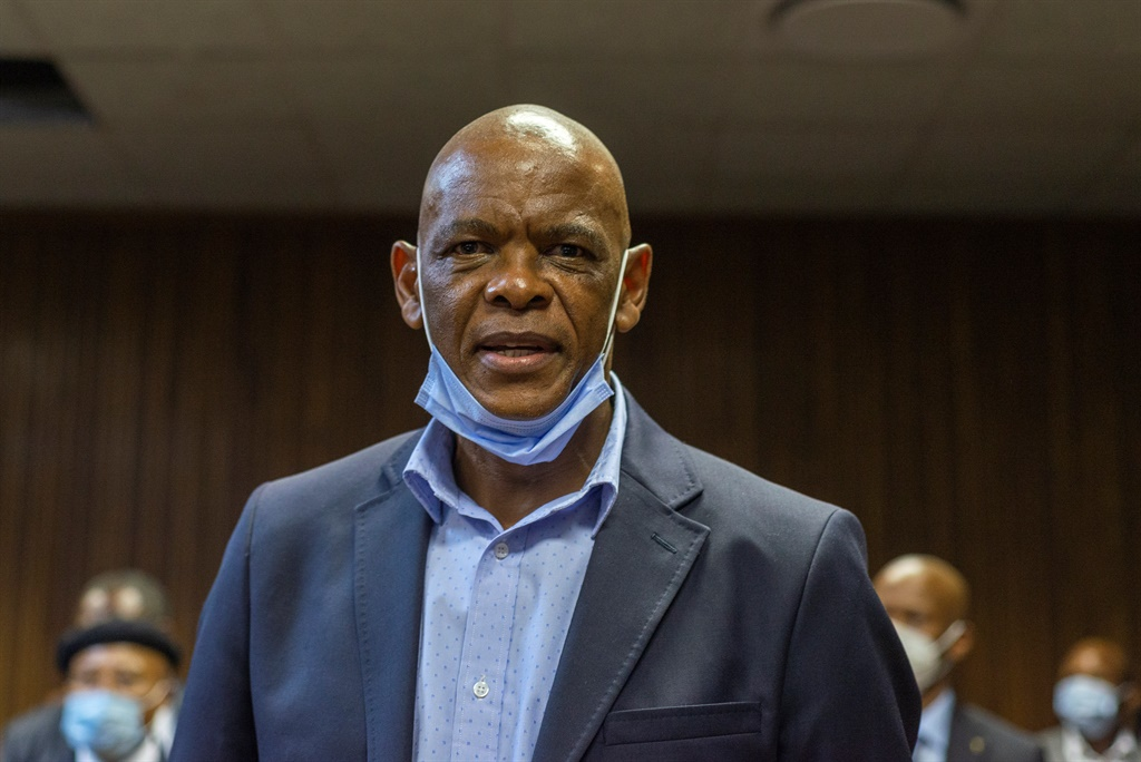 Ace Magashule appears at the Bloemfontein Magistrate Court. (Frikkie Kapp, Gallo Images)