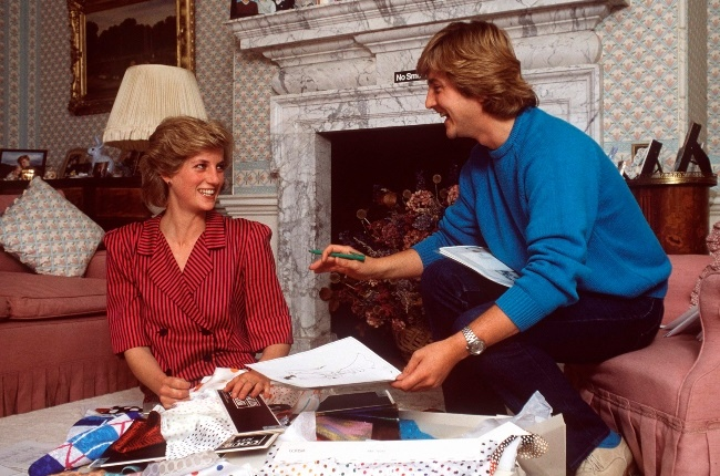 Princess Diana with David at her home in Kensingto