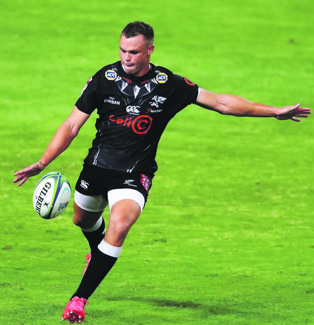 Curwin Bosch scored 14 crucial points for the Sharks against Griquas in Kimberley on Friday.