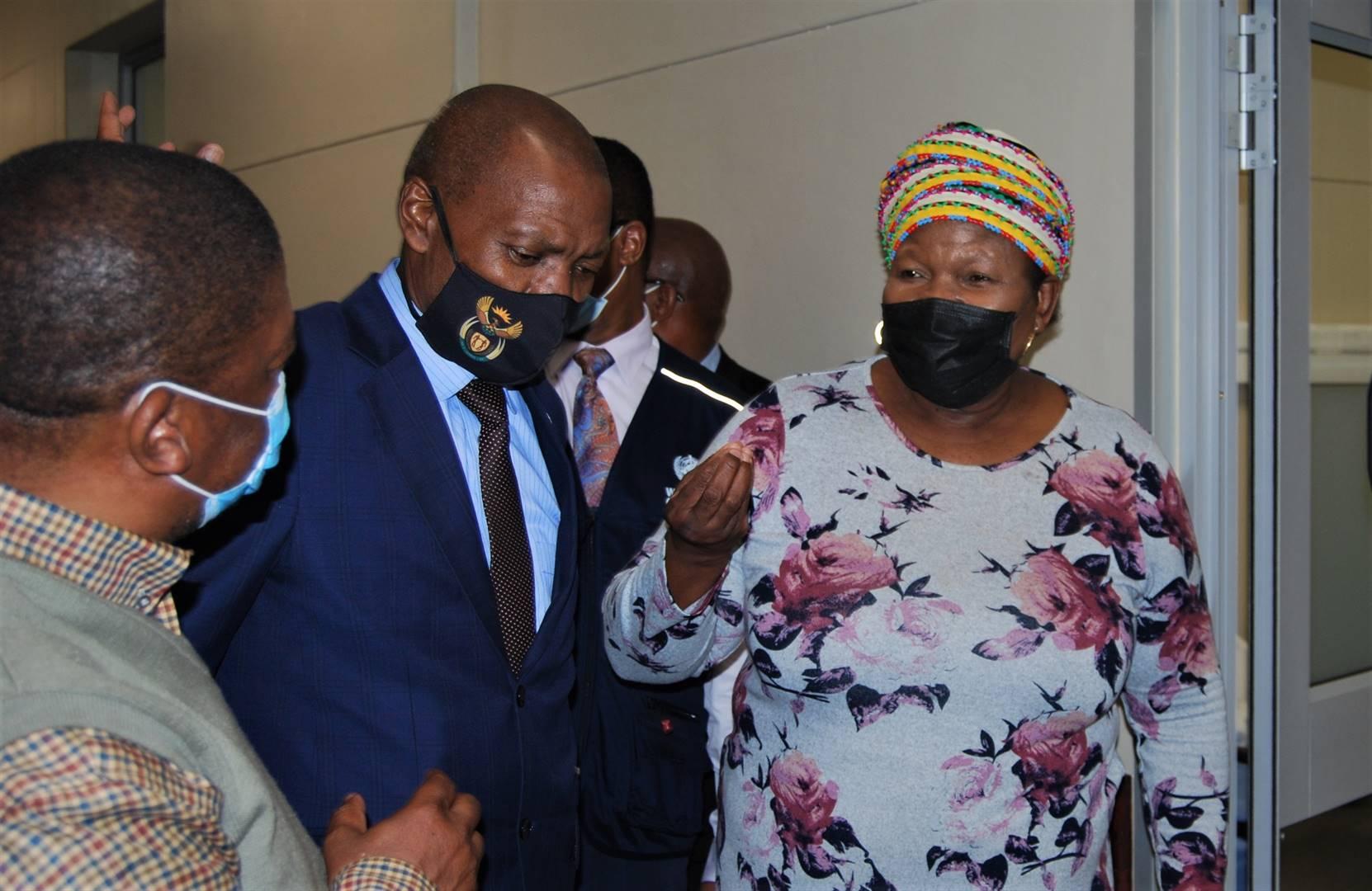 Eastern Cape Health MEC Sindiswa Gomba and Health Minister Zweli Mkhize