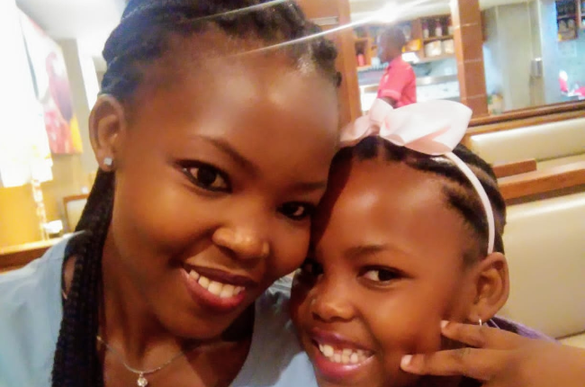 Proud mother Queen Shogole with her daughter, Phetogo whose kindness is an example to us all.