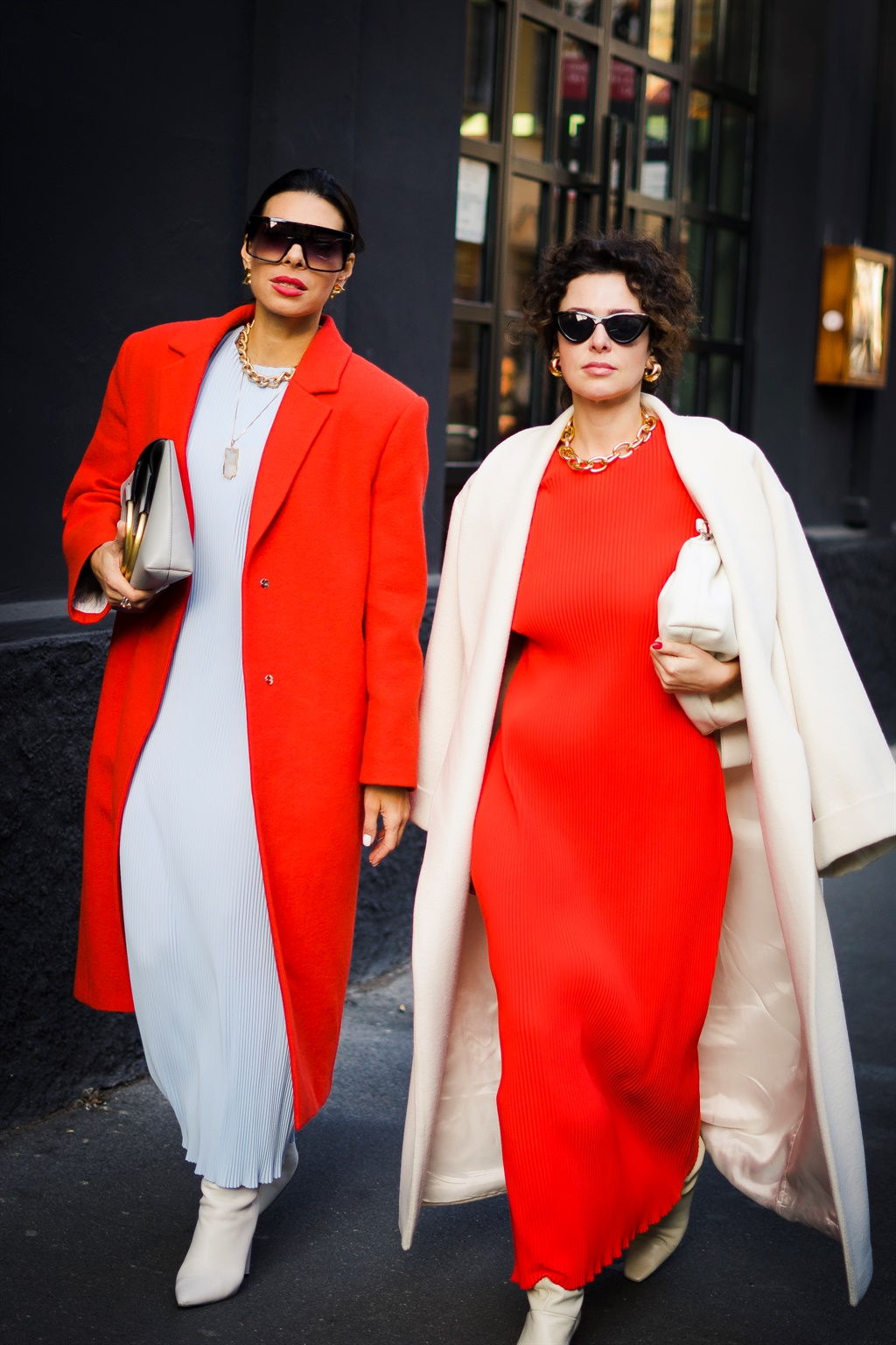 People at Street Style At Ermanno Scervino Fashion