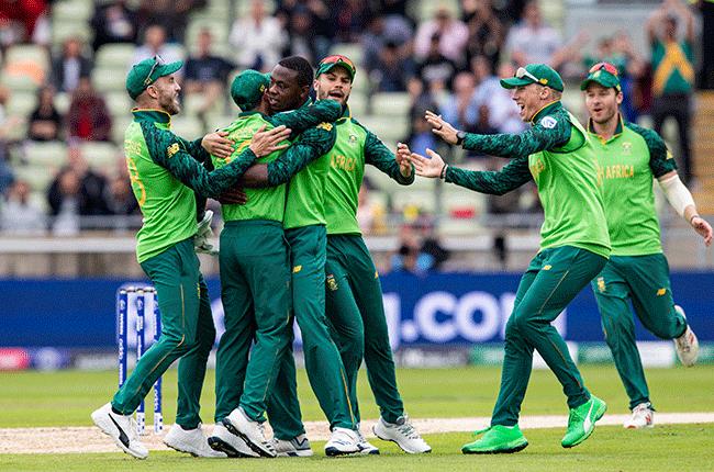 Proteas celebrating a wicket
