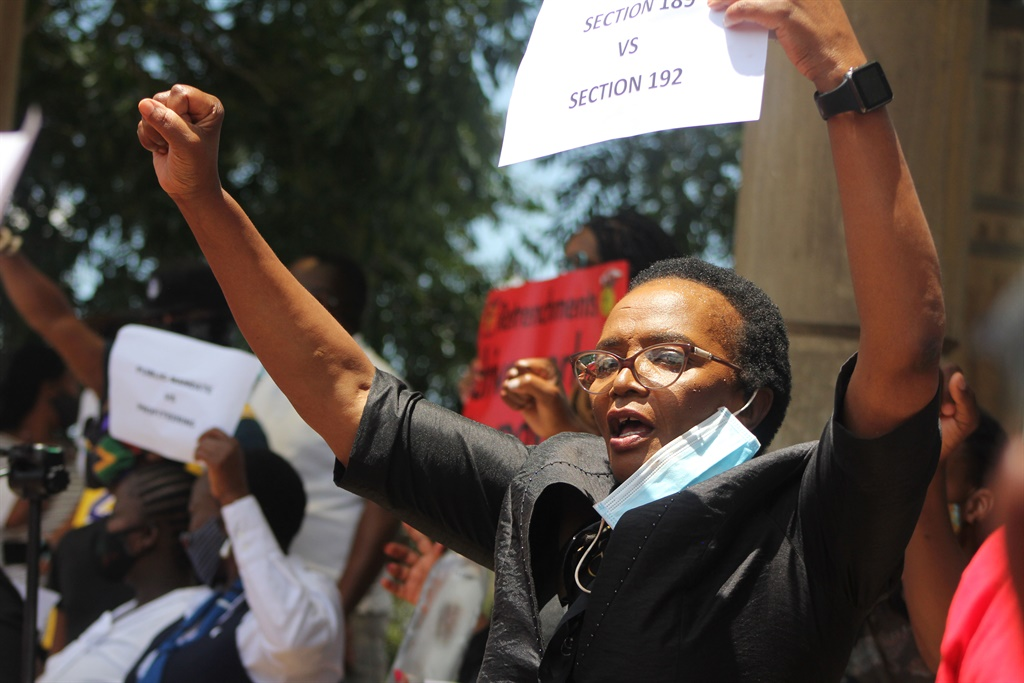 The Communication Workers Union (CWU) has vowed to fight until the bitter end in support of the workers. Picture: Rosetta Msimango