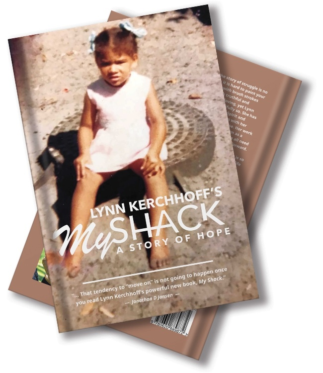 The book which shares Lynn's story of sexual abuse