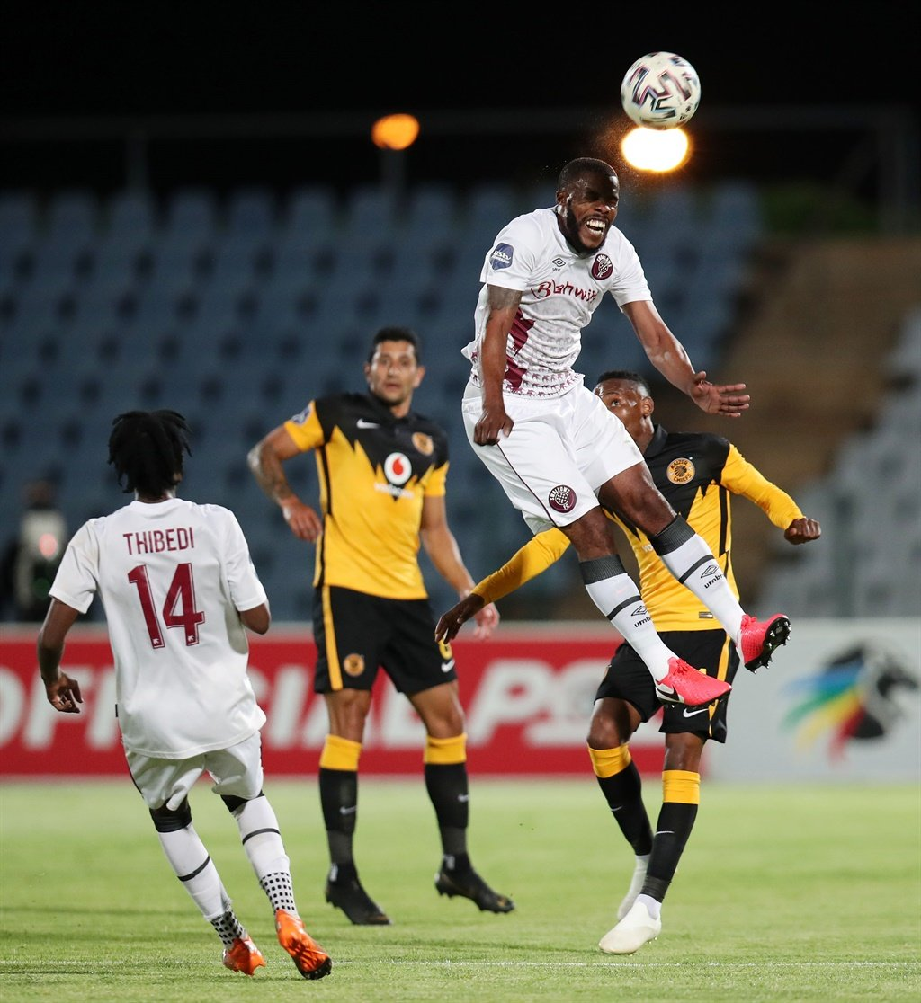 Wandisile Letlabika of Swallows clears the ball from Khama Billiat of Kaizer Chiefs during the DStv Premiership match on November 24. Picture: Muzi Ntombela/Backpage Pix/Gallo Images