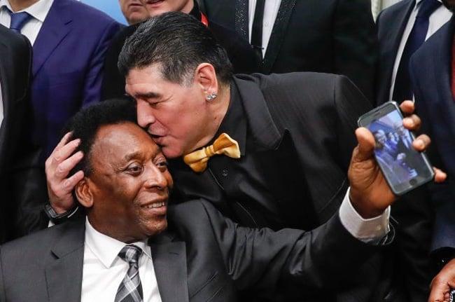 Diego Maradona and Pele (Getty Images)