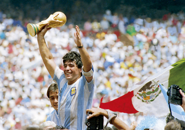 Maradona celebrates Argentina's 1986 World Cup victory over Germany. (Photo: GALLO IMAGES/GETTY IMAGES)