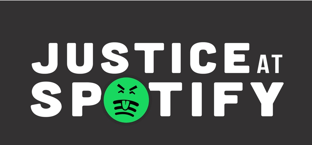 The 'Justice at Spotify' campaign is calling for increased royalty payments, transparency regarding their practices and an end to artist exploitation and intimidation. (Photo: Screengrab)