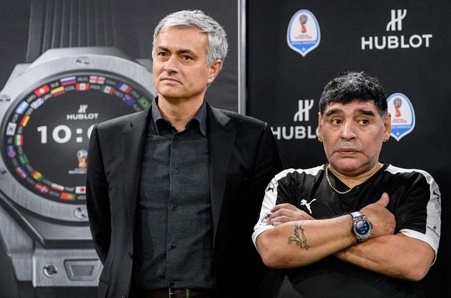 Jose Mourinho and Diego Maradona (Getty Images)
