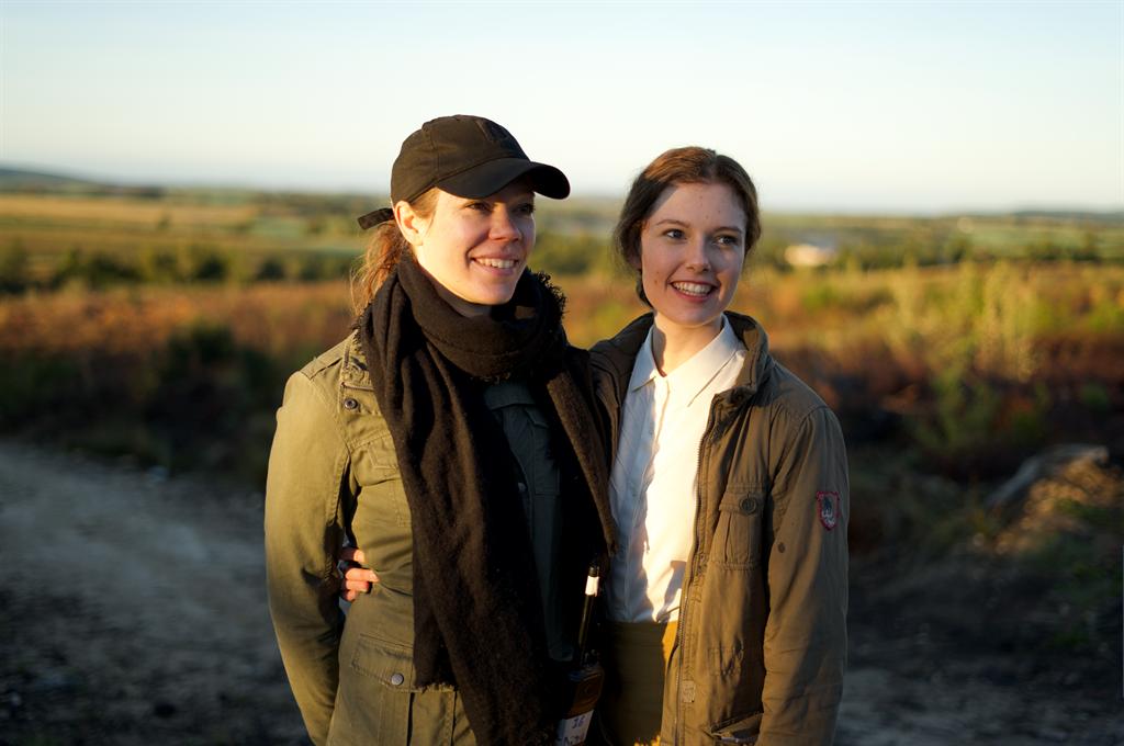 René van Rooyen and Elani Dekker during filming (s