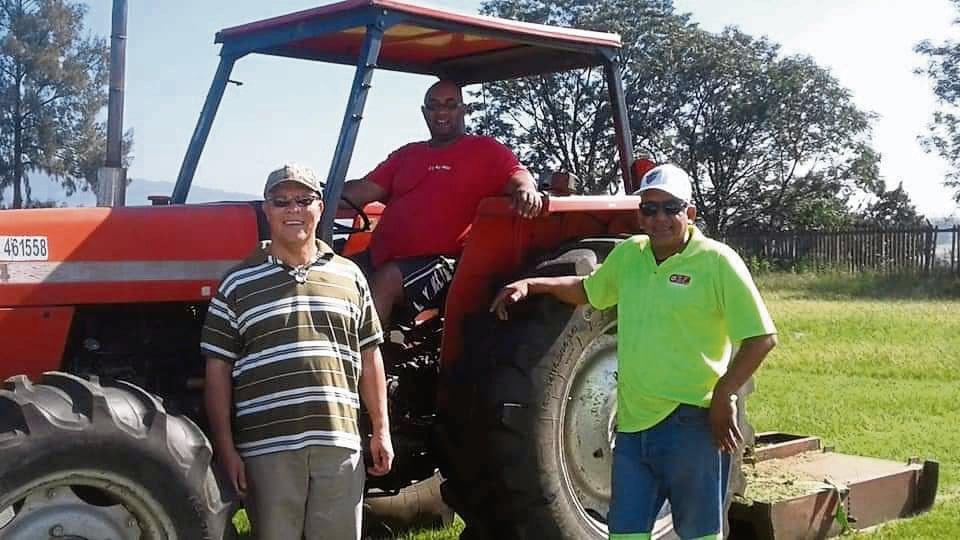 From left: CPF chairman Alphonso Jasson, Keith Abrahams and Randall 'Mafutha' Adams.