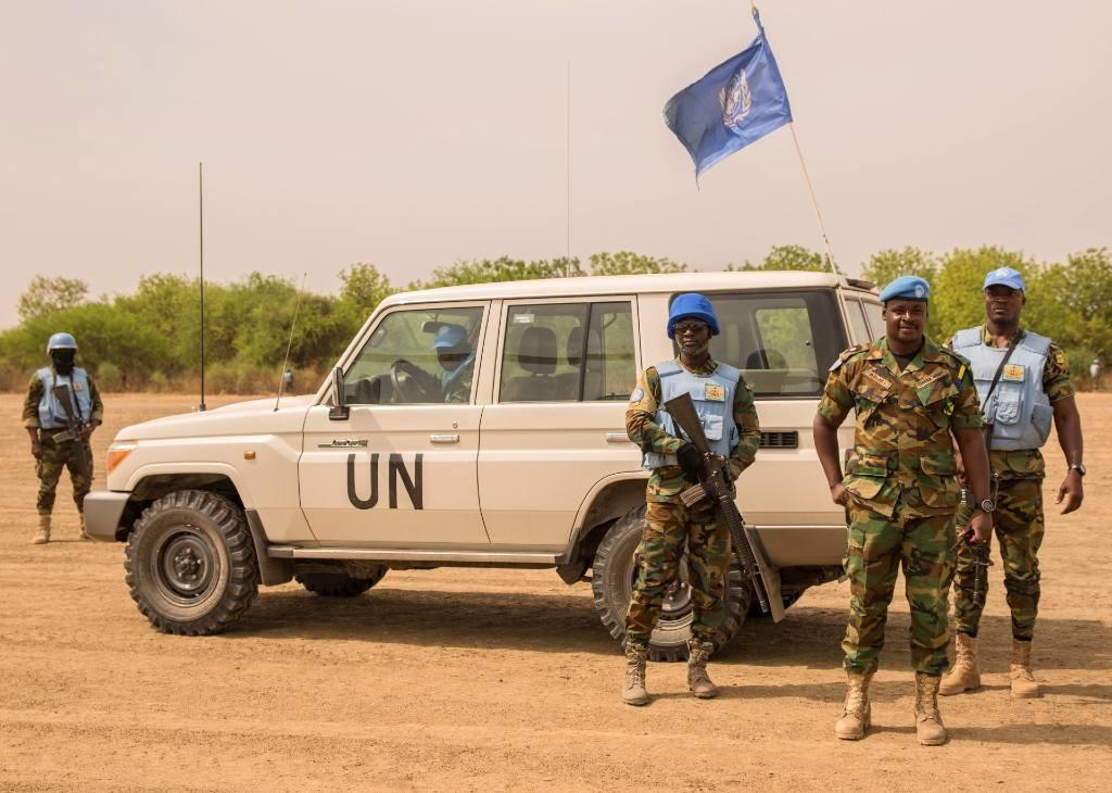 UN peacekeepers on patrol