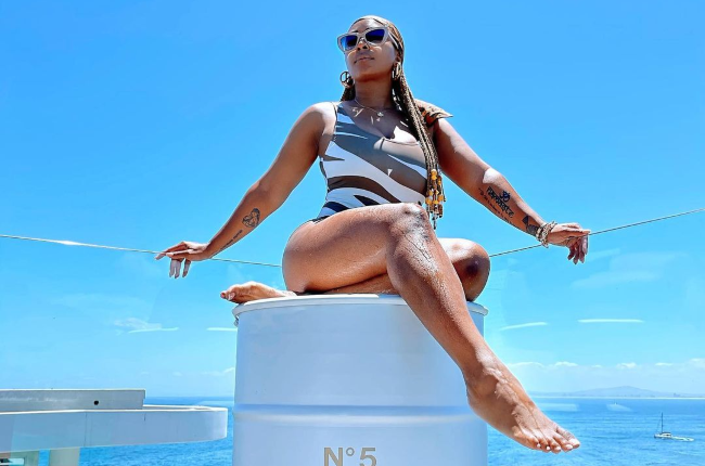 Media personality and rapper Boity Thulo was living it up in the Mother City.