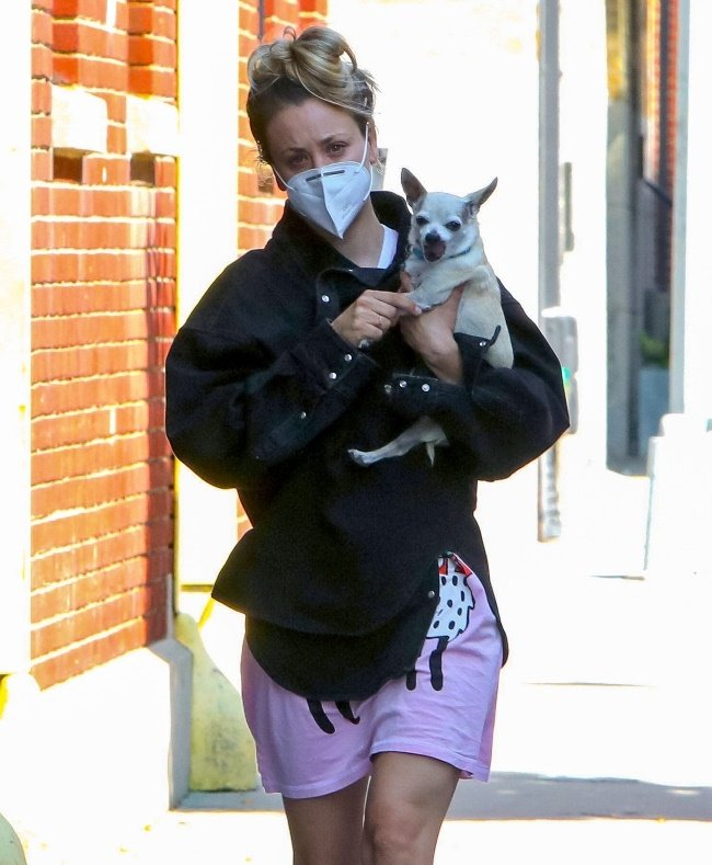 Clearly still mourning the loss of her rescue dog,