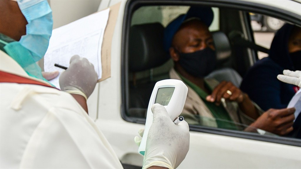 Covid-19 South Africa roadblock testing