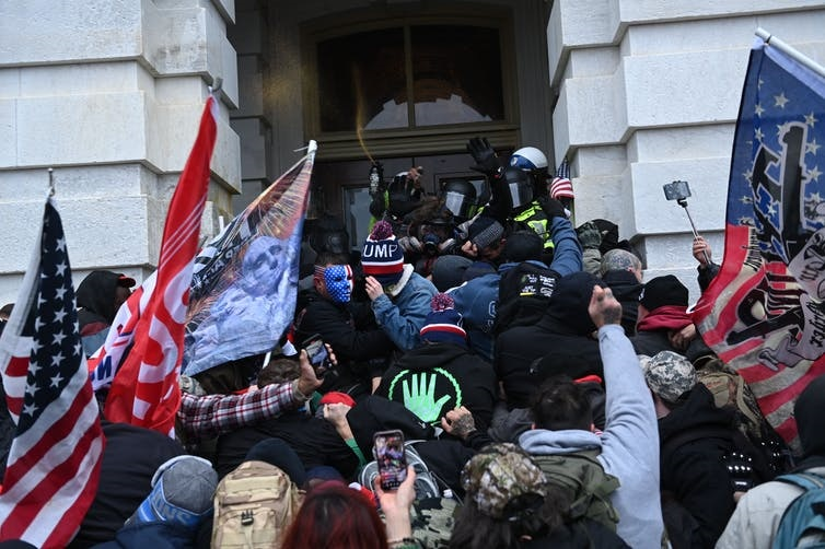 The people who attacked the U.S. Capitol building lived up to their word to engage in violence. Brendan Smialowski/AFP via Getty Images