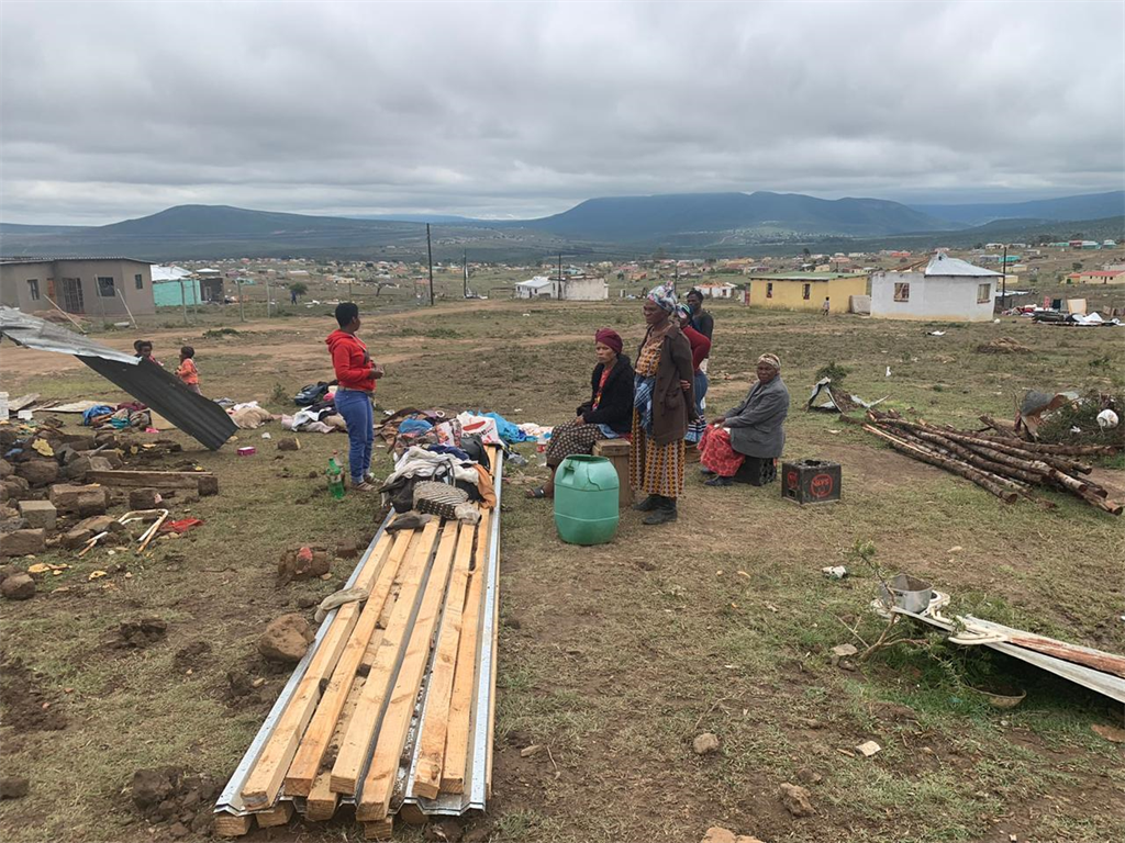 Dozens of people were left homeless and at least one person died after a twister tore through five villages outside Middledrift in the Eastern Cape.