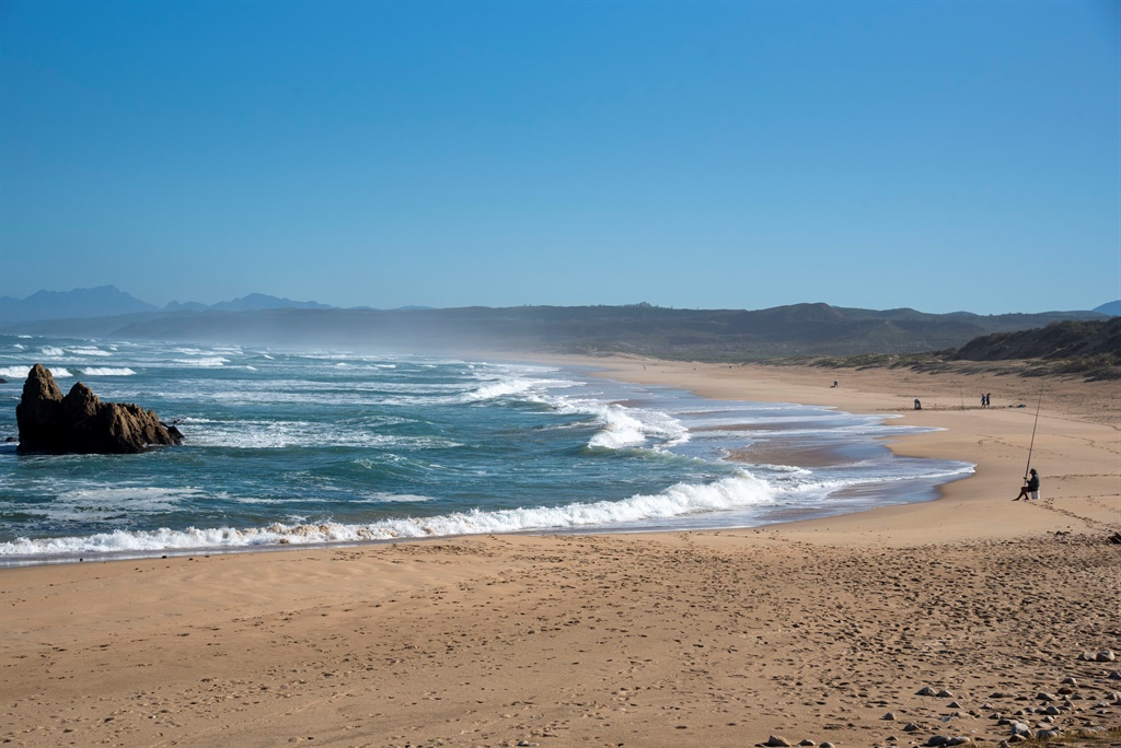 Deserted... except for fishermen. That's how pristine and beautiful Garden Route beaches look from now on.