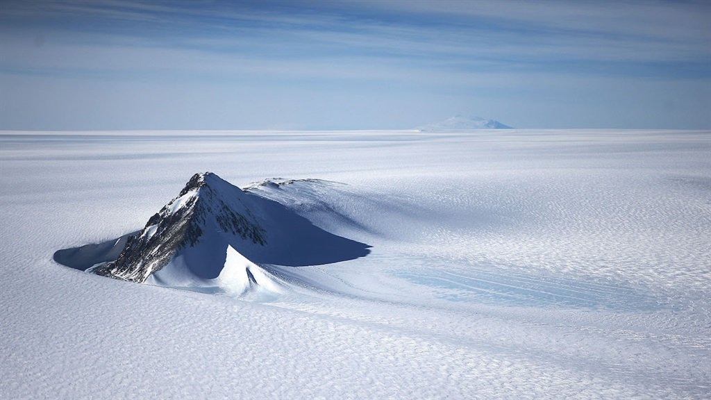 ANTARCTICA - OCTOBER 28:  A section of the West An