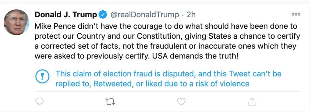 Trump tweets restricted