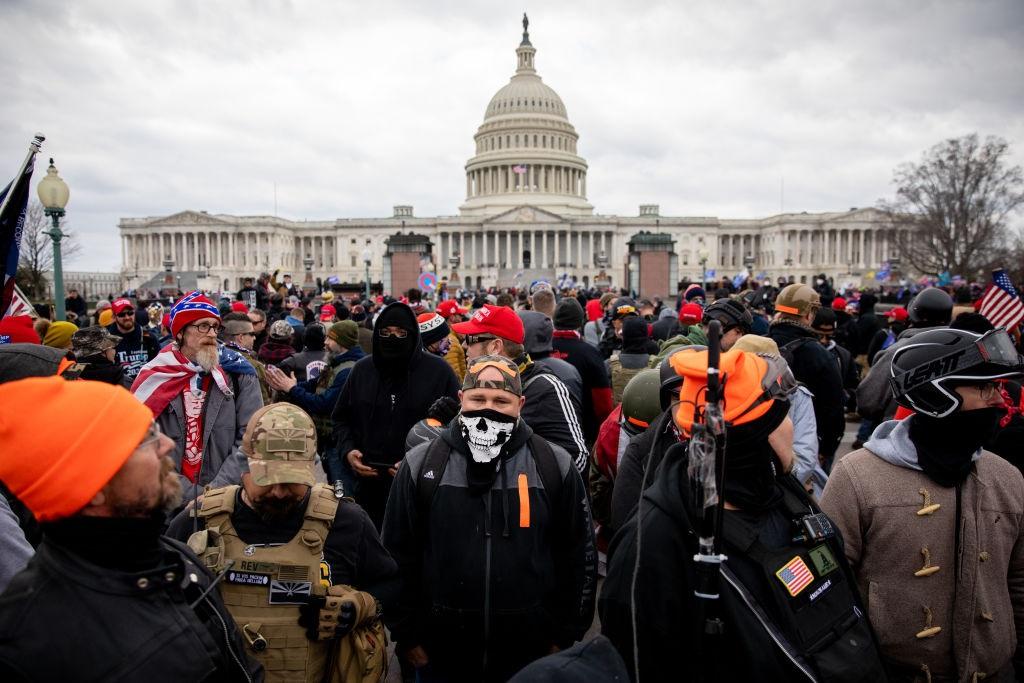 WASHINGTON DC - JANUARY 6: The Proud Boys outside