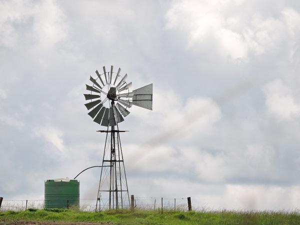 windpomp, wolke, klimaat, landskap, water, reën,