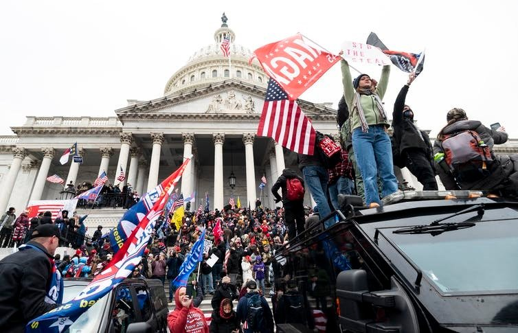Insurrectionists riot at the US Capitol