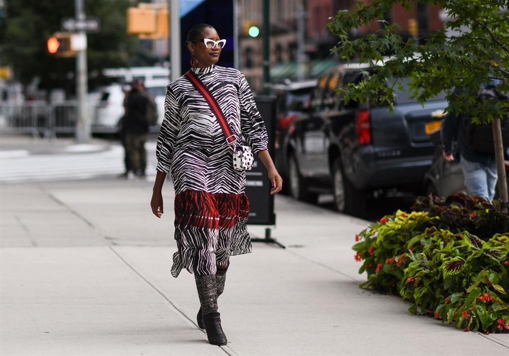 NEW YORK, NEW YORK - SEPTEMBER 14: A guest is seen