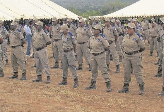 Traffic officers during a parade at the launch of the Mpumalanga Traffic College in Mkhuhlu.             Picture: Tlangelani khosa