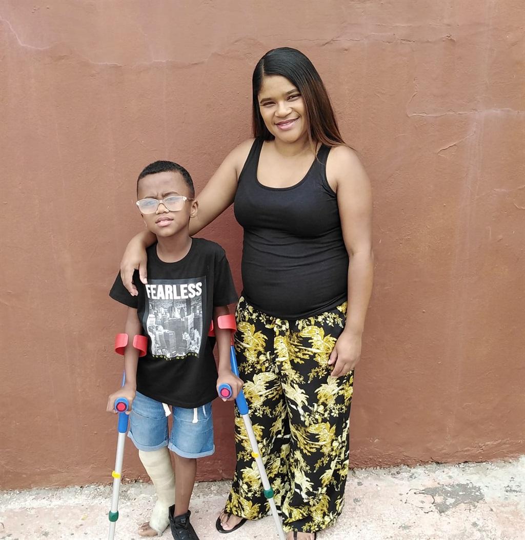 Deshaan and his mom Delray Juel.