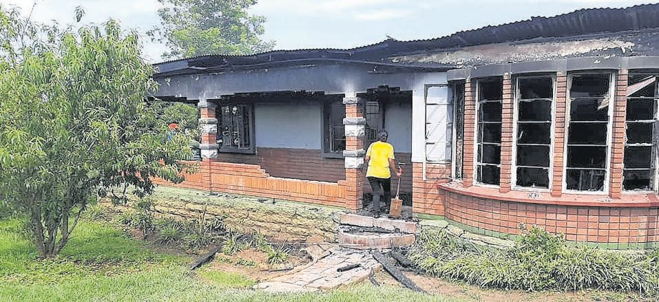 A six-bedroom house Howick West was gutted by an unnoticed roof fire on Saturday.