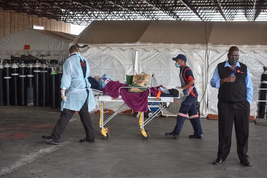 Patient leaving the triage area at the hospital