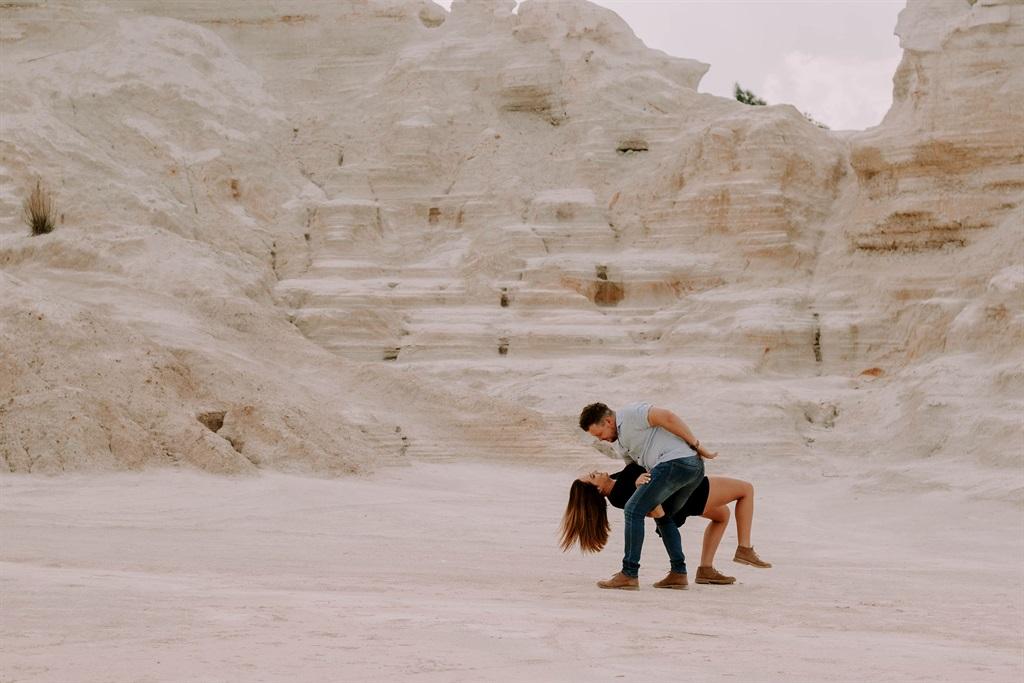 Juan en Shamodene laf op die strand. Foto: Cherize