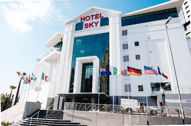 Hotel Sky has been transformed from a law-firm office to a six-storey smart hotel with modern finishes (Photo: Supplied)