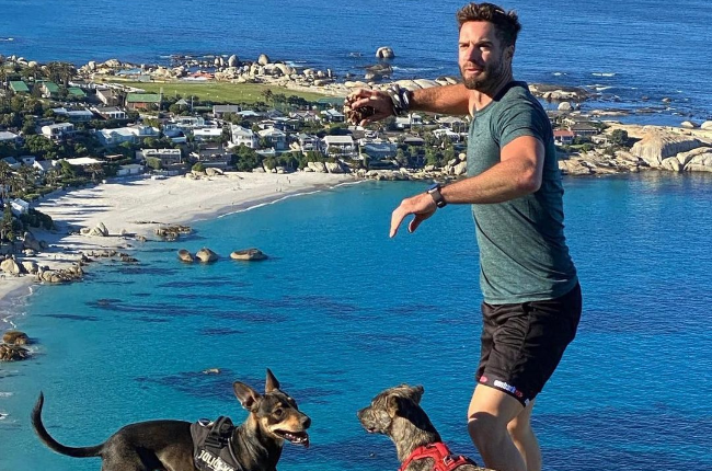 Marc is still coming to terms with the loss of his beloved pooches Luna and Siobhan that were run over in Sea Point, Cape Town (Photo: Instagram)