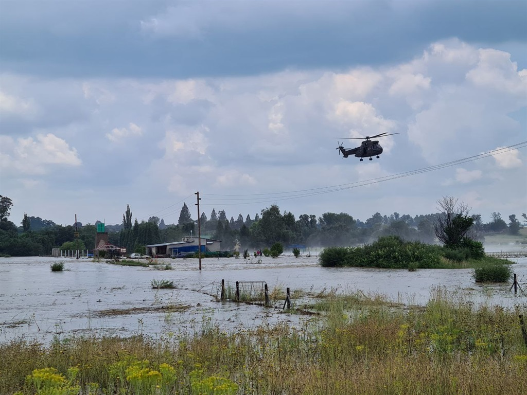 An elderly couple has been hoisted to safety by helicopter.