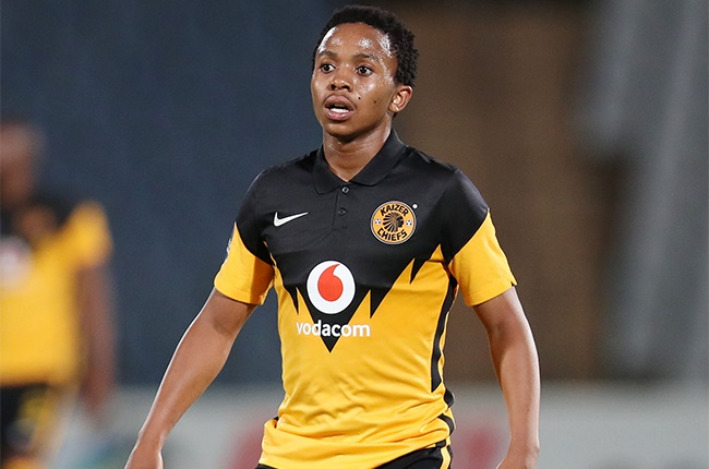Nkosingiphile Ngcobo of Kaizer Chiefs  during the DStv Premiership match between Swallows and Kaizer Chiefs at Volkswagen Dobsonville Stadium on November 24, 2020 in Johannesburg, South Africa.