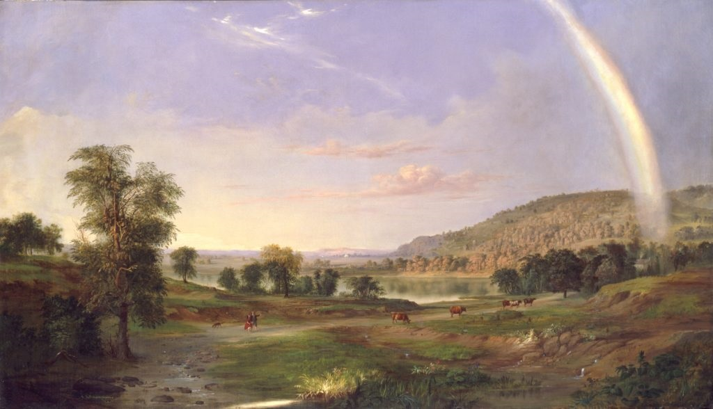 Robert S. Duncanson, Landscape with Rainbow (1859). Courtesy of the Smithsonian American Art Museum.