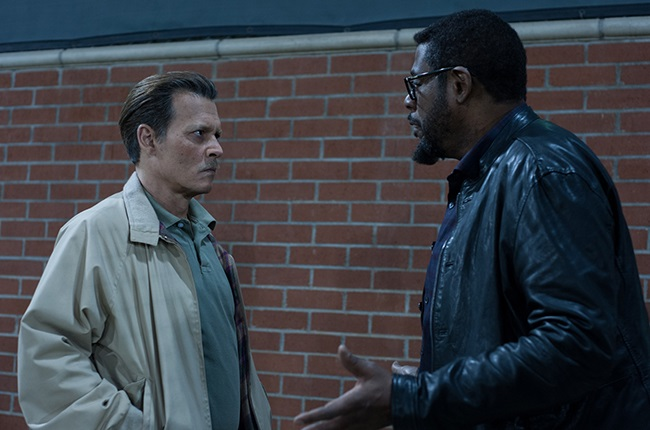 Johnny Depp and Forest Whitaker in City of Lies.
