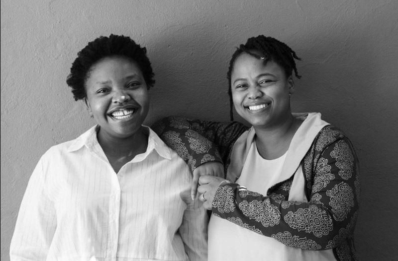 The Creative Works Award-winner duo Nkule Mabaso (left) and Assoc Prof Nomusa Makhubu of the Michaelis School of Fine Art. (UCT News)