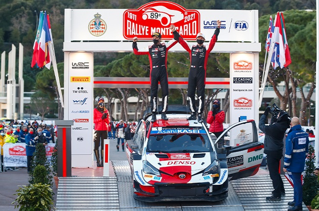 Sébastien Ogier and his co-driver Julien Ingrassia take victory in the Monte Carlo Rally, the opening round of the 2021 World Rally Championship (WRC)