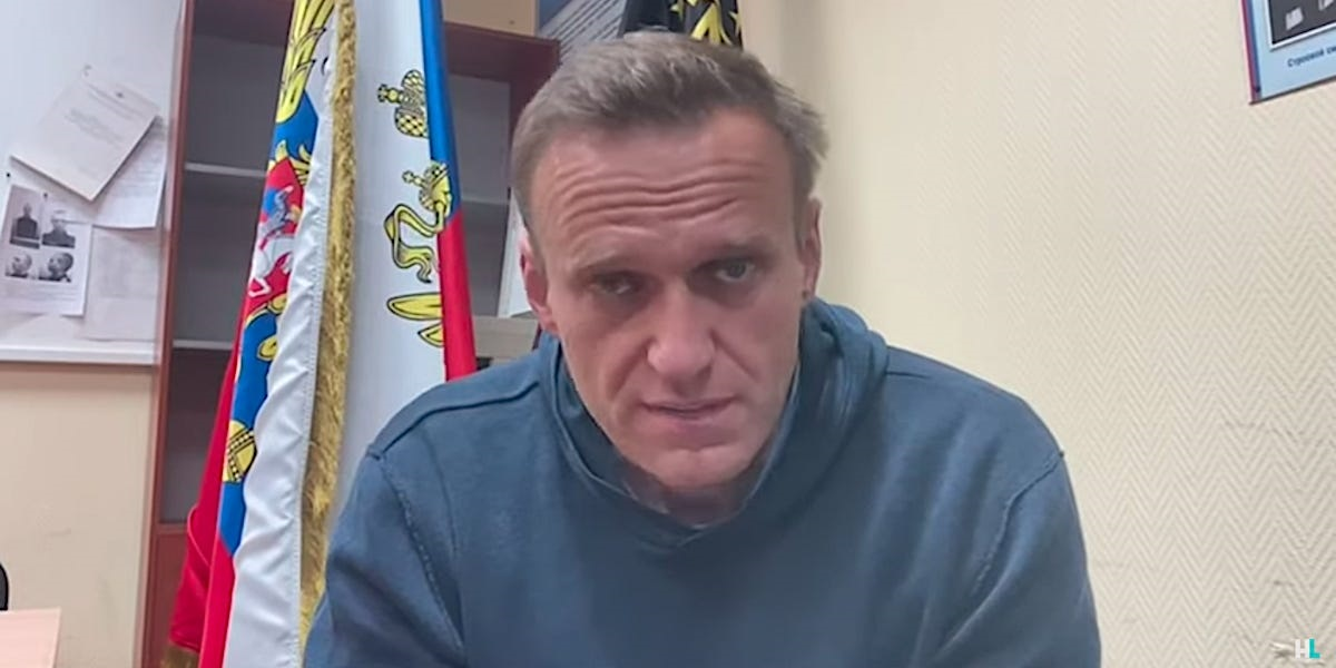 Alexei Navalny appears in a video published by his team on January 18, 2021.
