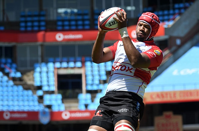 Lions lock Marvin Orie in action during the Currie Cup semi-final against the Bulls at Loftus Versfeld in Pretoria on 23 January 2021.