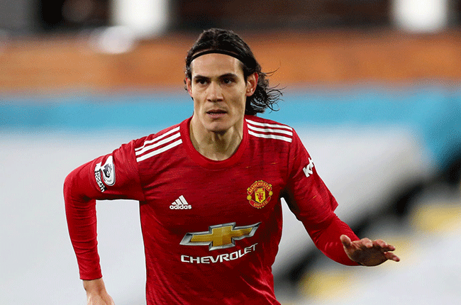 Manchester United forward Edinson Cavani