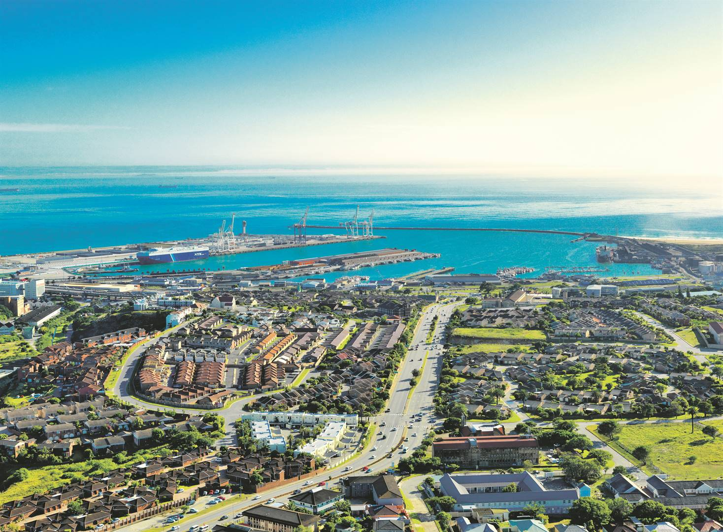 An aerial photograph of Port Elizabeth in the Nelson Mandela Bay Municipality which was this week renamed to Gqeberha. Picture: Karl Schoemaker