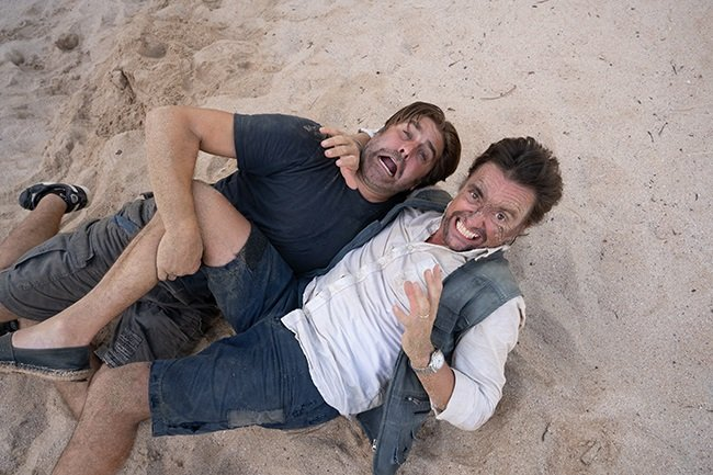 FIGHT, FIGHT, FIGHT! | Richard Hammond and Tory Belleci in The Great Escapists. (Photo: Amazon Prime Video)