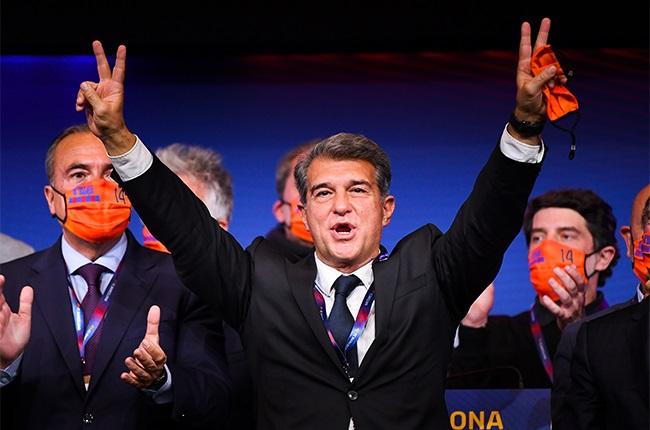 New FC Barcelona President Joan Laporta.