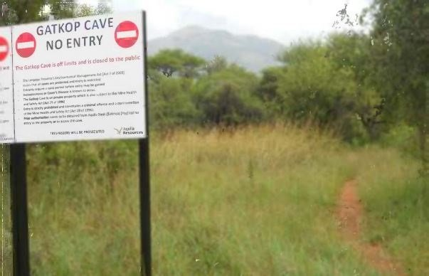 The contested piece of land is situated in the Limpopo province, about 30km from Thabazimbi.  It is made up of a three-peak mountain range, known as Madimatle (beautiful blood) mountain and what is called the Gatkop cave. Picture: Sahris