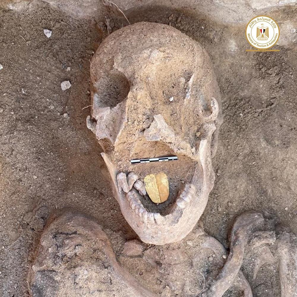 Mummy with gold tongue found in Egypt